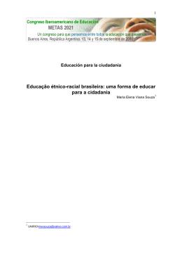 Educação étnico-racial brasileira: uma forma de educar para a