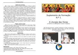 Suplemento Liturgia das Horas - Grupo de Acólitos do Patacão