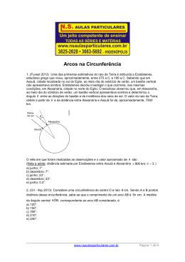 Trigonometria – Arcos na circunferência