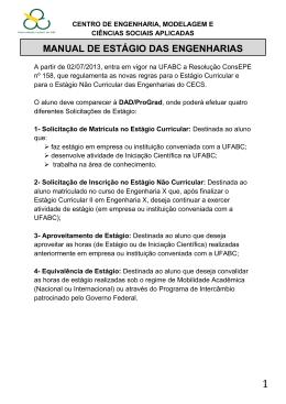 MANUAL DE ESTÁGIO DAS ENGENHARIAS - CECS
