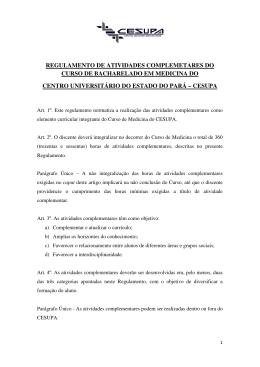 REGULAMENTO DE ATIVIDADES COMPLEMETARES