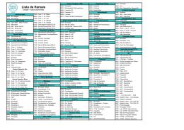 Lista de Ramais - Antenor Duarte Vilela