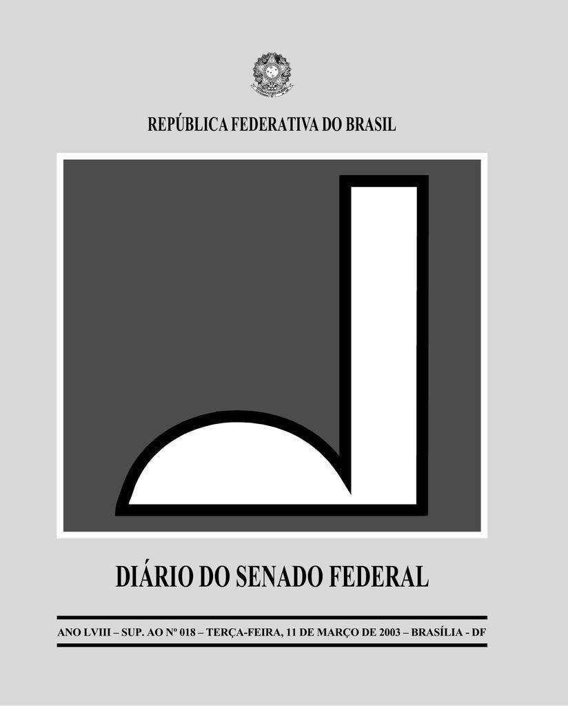 0419ce7d67e553 DIÁRIO DO SENADO FEDERAL