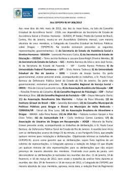 maio de 2012 - Governo do Estado do Rio de Janeiro
