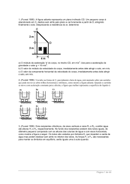 (Fuvest 1995) A figura adiante representa um plano