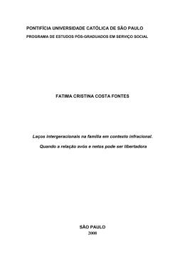 PONTIFÍCIA UNIVERSIDADE CATÓLICA DE SÃO PAULO FATIMA