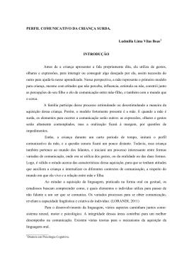 PERFIL COMUNICATIVO DA CRIANÇA SURDA