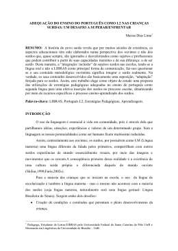 adequação do ensino do português como l2 nas crianças surdas