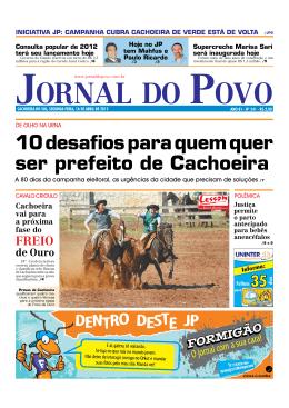 10 desafios para quem quer ser prefeito de Cachoeira