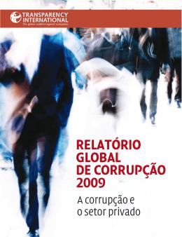 RELATÓRIO GLOBAL DE CORRUPÇÃO 2009
