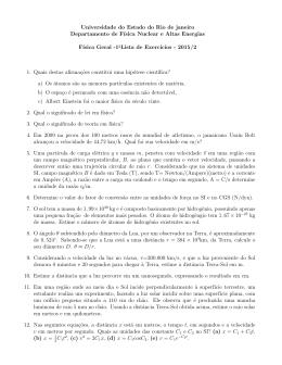 Universidade do Estado do Rio de janeiro Departamento de
