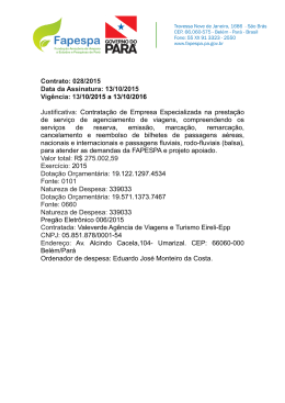 Contrato: 028/2015 Data da Assinatura: 13/10/2015