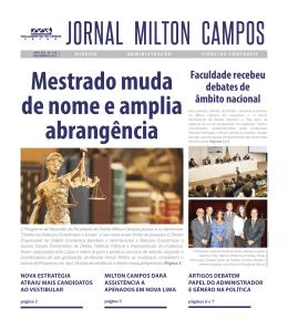 Leia mais no Jornal da Milton Campos