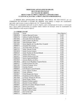ordem dos advogados do brasil secção de são paulo 134.º