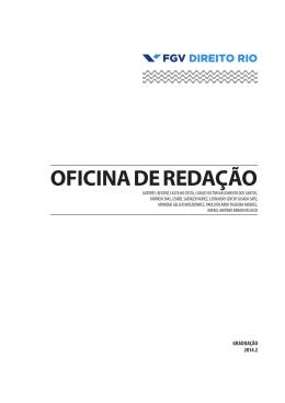 OFICINA DE REDAÇÃO - FGV Direito Rio