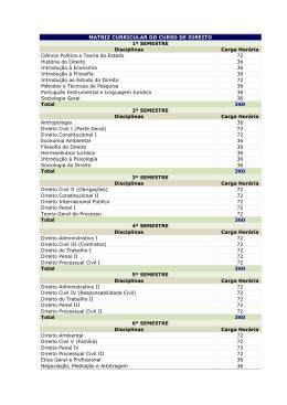 Matriz Curricular - Bem Vindos a Faculdade de Alta Floresta