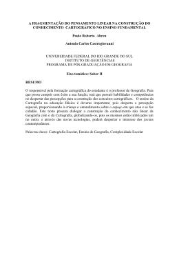 A FRAGMENTAÇÃO DO PENSAMENTO LINEAR NA