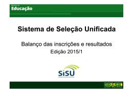 Sisu 1 2015_Balanço Inscrições