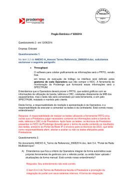 QUESTIONAMENTO EMBRATEL 2 - Processo de Licitação