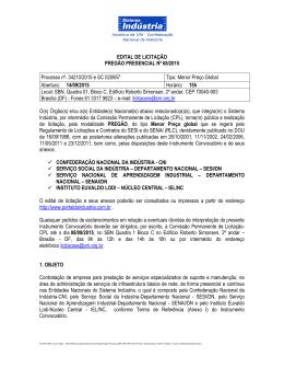 EDITAL DE LICITAÇÃO - Portal da Indústria