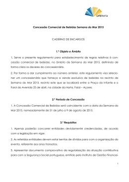 Concessão Comercial de Bebidas Semana do Mar 2015 CADERNO