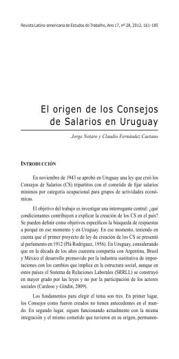 El Origem de los Consejos... - Revista Latino-americana de