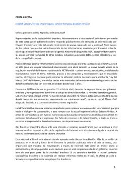 CARTA ABIERTA (english version, versão em português