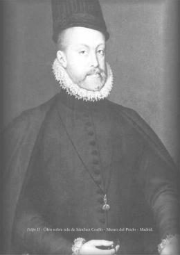 Felipe II - Óleo sobre tela de Sánchez Coello