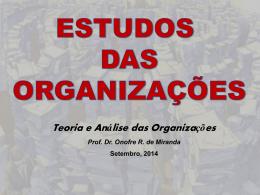 08,09,14 Estudo das Organizações
