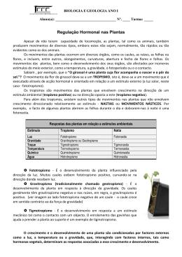 Regulaçao hormonal plantas