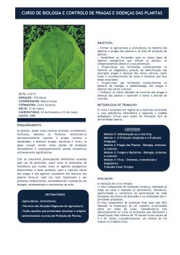 curso de biologia e controlo de pragas e doenças das plantas