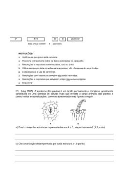 01) (Ueg 2007) A epiderme das plantas é um tecido permanente e