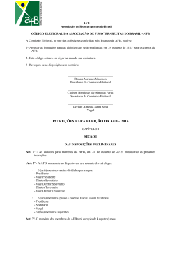 código eleitoral da associação de fisioterapeutas do brasil