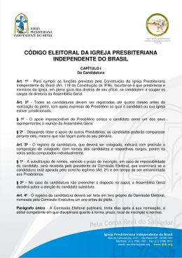 código eleitoral da igreja presbiteriana independente do brasil