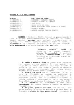 Leia a íntegra da decisão - Supremo Tribunal Federal
