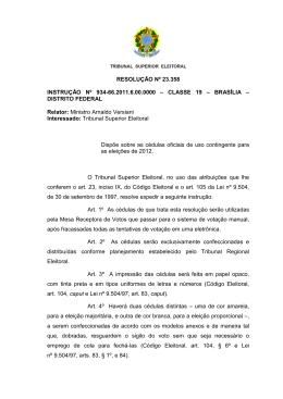 23.358 - Tribunal Superior Eleitoral