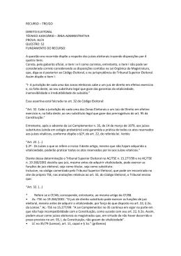 recurso – tre/go direito eleitoral técnico judiciário – área
