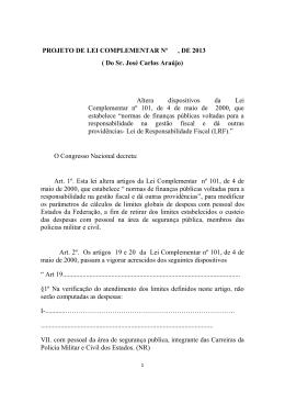 PLP 276/2013 - Câmara dos Deputados