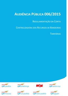 AUDIÊNCIA PÚBLICA 006/2015