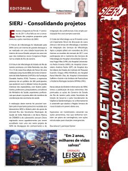 Ano 11 - nº 35 - SIERJ Consolidando projetos