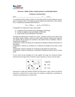 3) Uma mistura de gás hidrogênio (H2) e gás oxigênio