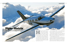 Piper Matrix - jp martins aviação