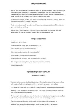 ORAÇÃO DO ENFERMO AÇÃO DE GRAÇAS DEPOIS DA CURA
