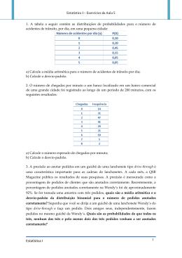 Distribuições de probabilidades discretas