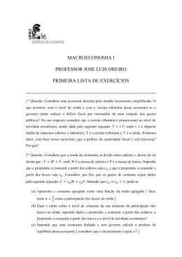 MACROECONOMIA I PROFESSOR JOSE LUIS