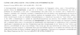 CLiNICA DE L1NGlJAGE:\1:LMA CLiNICA DA INTERPRETA