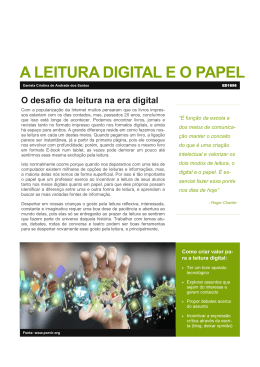 A LEITURA DIGITAL E O PAPEL
