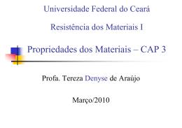 Propriedades dos Materiais – CAP 3 - DEECC