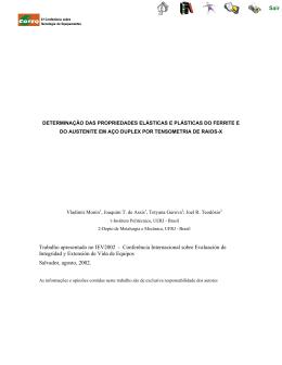 Determinação das Propriedades Elásticas e Plásticas do