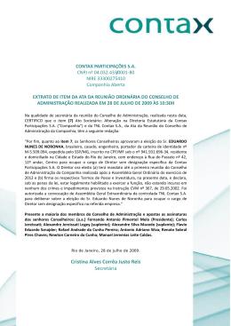 Cristina Alves Corrêa Justo Reis Secretária
